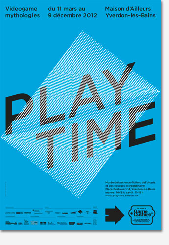 Poster: Playtime - Videogame mythologies - Blue