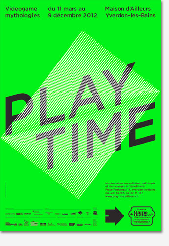 Poster: Playtime - Videogame mythologies - Green