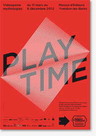 Affiche Playtime Rouge